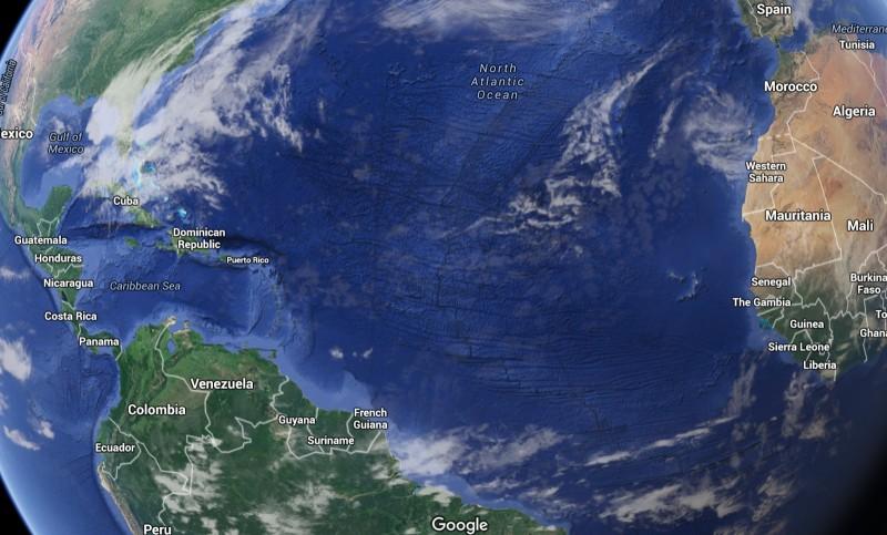 атлантический океан фото на карте плохо